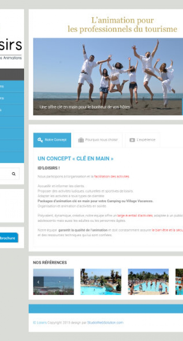 Création de site internet pour les professionnels du tourisme